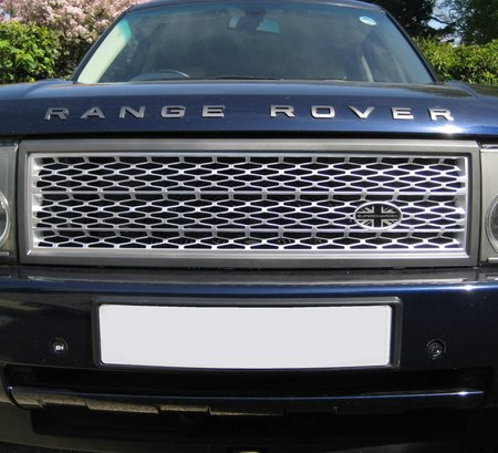 Grille Kit Silver Amp Grey Square Type Range Rover L322