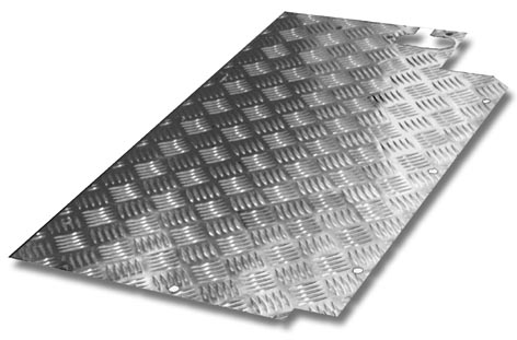 Land Rover Series Chequer Plate Floor Plate Nearside