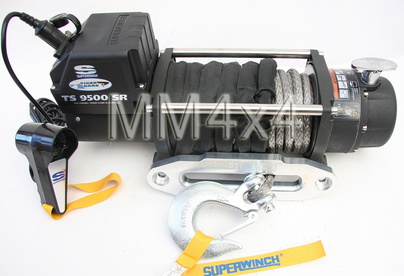 Superwinch Tiger Shark TS9500SR 12v Electric Winch with Synthetic Rope