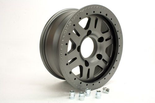 1 x Anthracite wheel 7x16, 5x165, 20mm off set - TF100