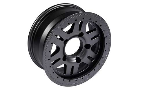 1 x Black wheel 7x16, 5x165, 20mm off set - TF102