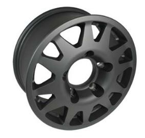 1 x TERRAFIRMA Dakar black Alloy Wheel 7X16  - TF105