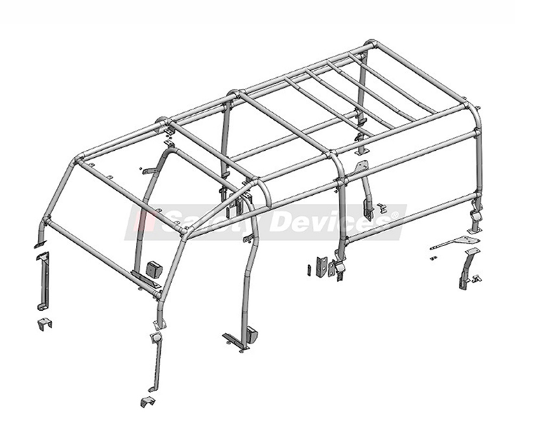 8-Point Bolt-In Full External/Internal Roll Cage