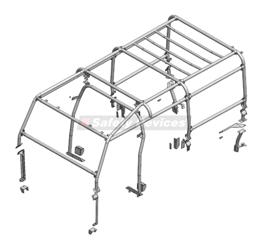 8-Point Full External/ Internal Roll Cage