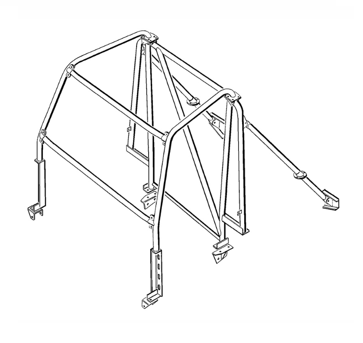 8-Point Multi-Point External/ Internal Bolt-In Roll Cage