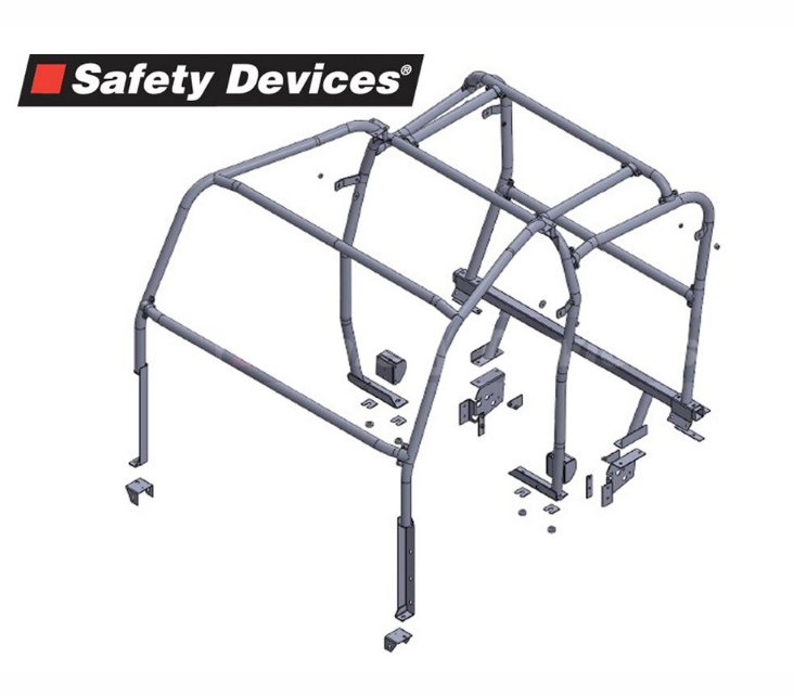 8-Point Multi-Point Internal/ External Bolt-In Full Roll Cage