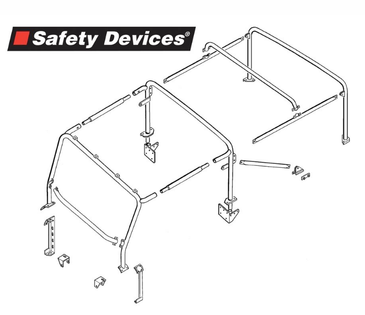 8-Point Multi-Point Internal/ External Bolt-In Roll Cage