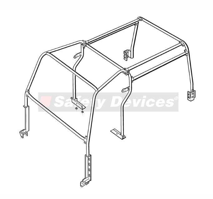 8-Point Multi-Point Internal 'Half' Roll Cage