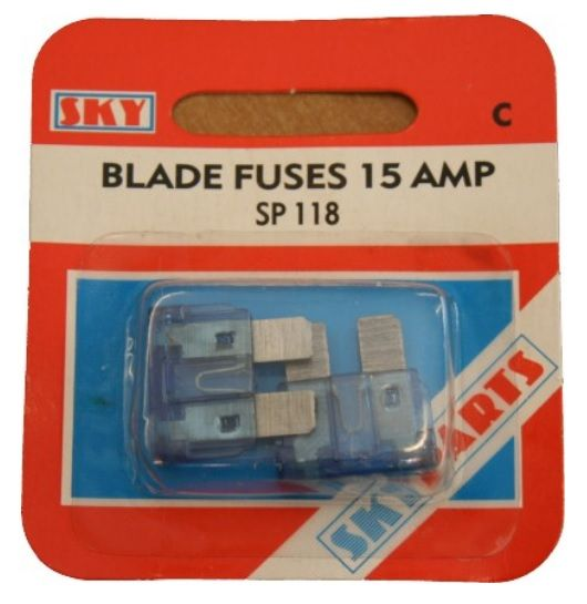 Blade Fuse - 15 Amp - Pack of 2