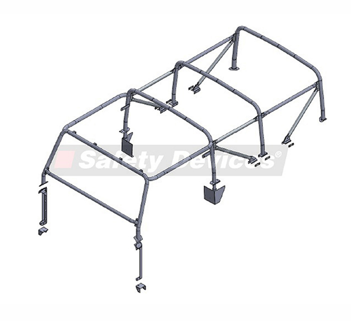 Defender 110 8-Point Multi-Point External/ Internal Bolt-In Roll Cage
