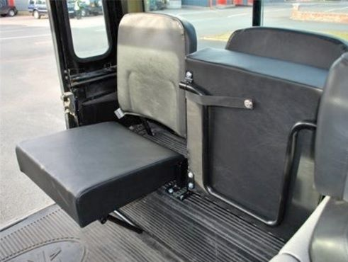Defender Inward Facing Folding Single Rear Seat