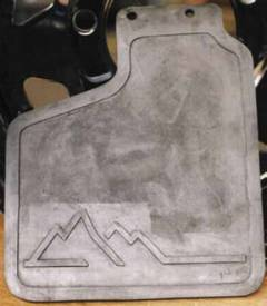 Discovery 1 Mud Flap Only - PAIR - FRONT