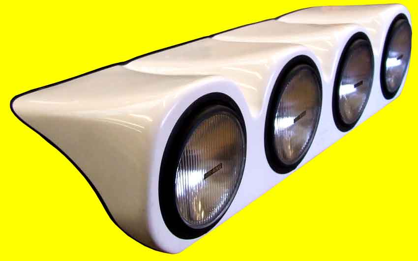 Discovery - Bonnet Pod - White - Complete with 4 x 55 watt spot lights