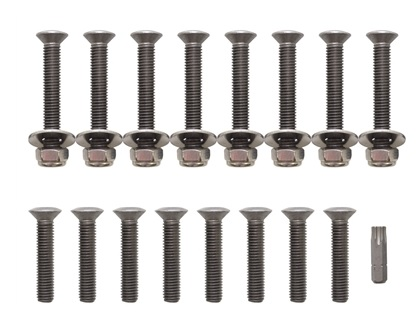 Door Bolt Kit - Defender 2007 onwards (front, 2 doors) - Stainless Steel - DA1132P