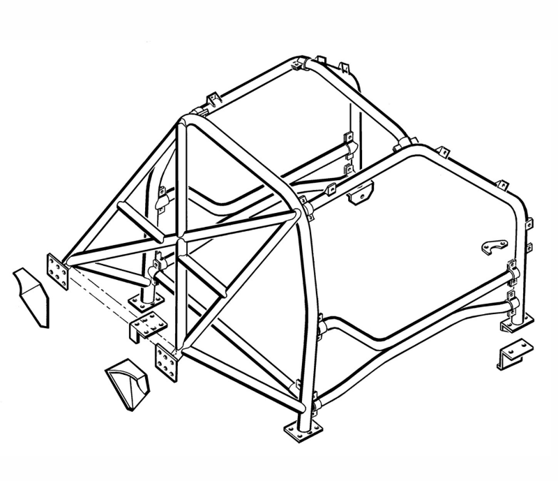 Freelander 1 14-Point Multi-Point Internal Roll Cage