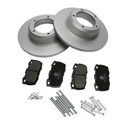 Front Brake Disc & Pad Kit - Defender 90