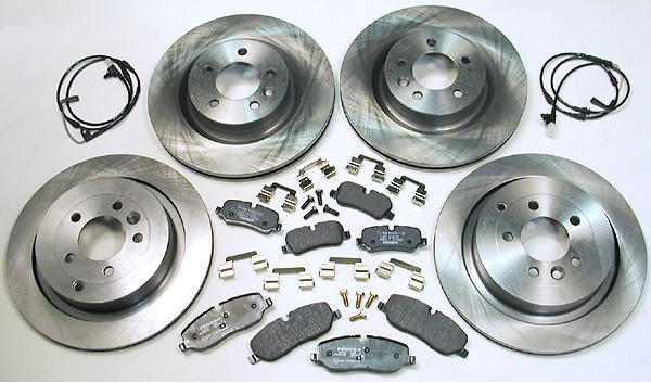 Front - Disc and Pad Kit Discovery 200 / 300 TDi  From KA > Chassis number
