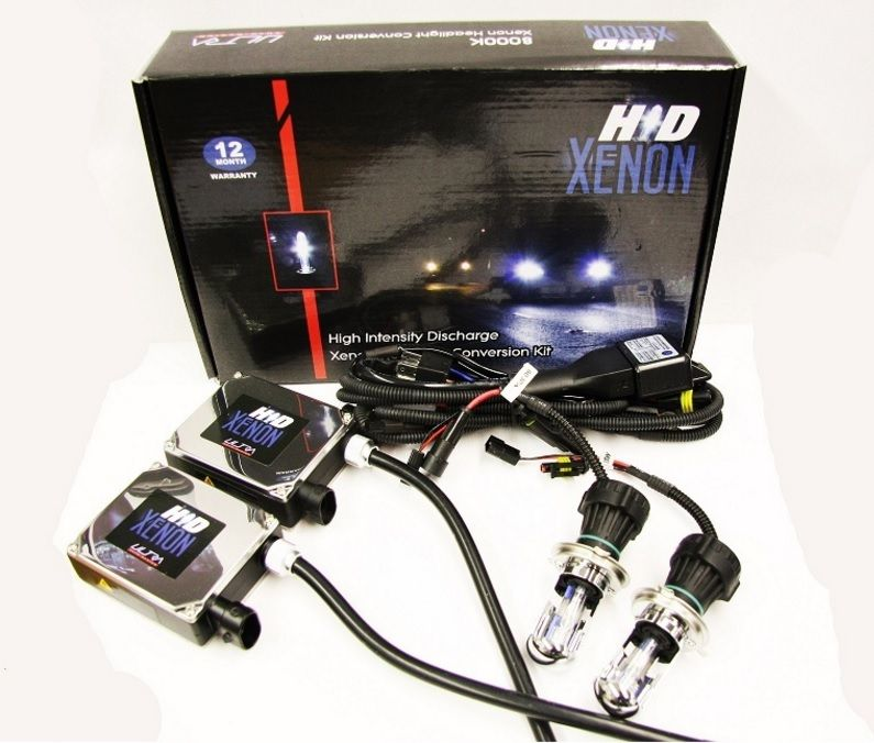 H4 HID Xenon Conversion Kit - 300% brighter than standard halogen bulbs!