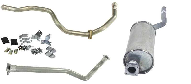 Land Rover Series 2A/3 SWB Petrol Full Exhaust System