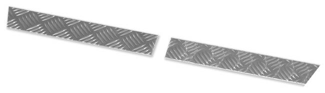 Land Rover Series Chequer Plate - Bottom of rear wing -  LR 155 PAIR