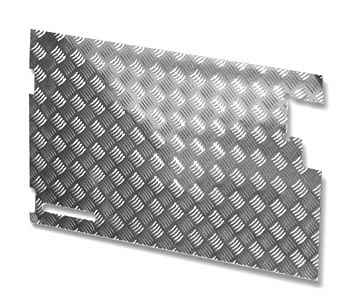 Land Rover Series Chequer Plate - Rear Safari Door Trim - LR81