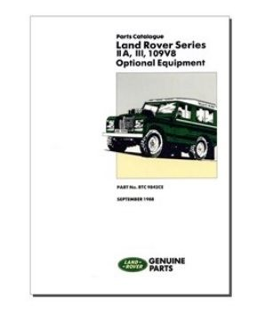 Parts Catalogue Optional Equipment Series IIA, III & 109 V8