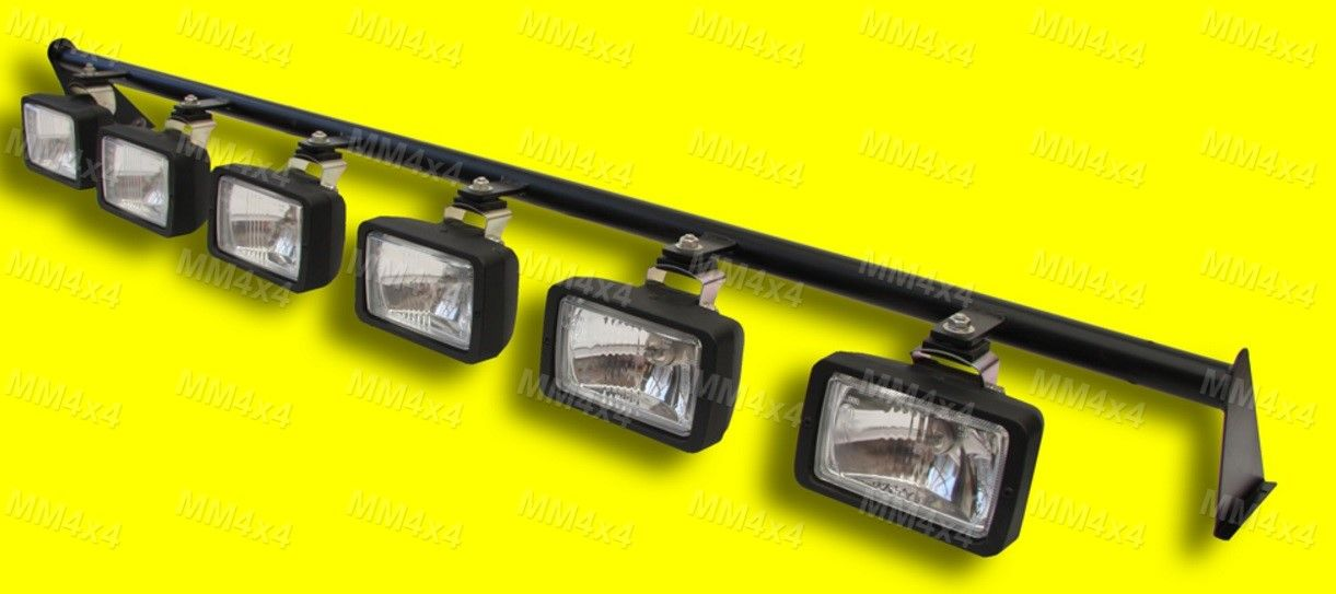 Pro trac defender 6 x spot light bar with 6 x rectangular spot pro trac defender 6 x spot light bar with 6 x rectangular spot lights mozeypictures Image collections