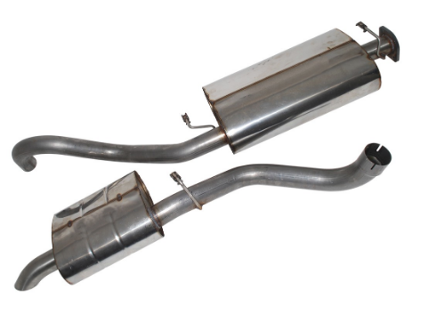 Range Rover Classic Stainless Centre Box & Rear Silencer Exhausts - DA4237