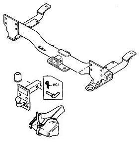 Range Rover L322 - Armature and Adjustable Tow Bracket Kit - Please Click Image To Select Year