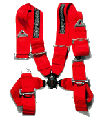 Seat Belt - 4 Point Harness [RED]