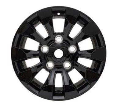 Set of 4 Black Sawtooth Style Alloy Wheels - 18""