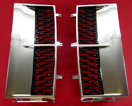Supercharged Style Side Vents - CHROME & BLACK - Range Rover L322