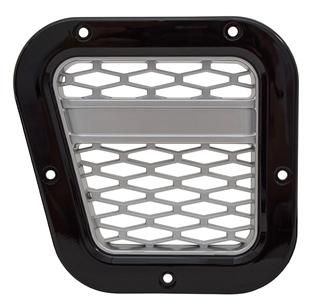 XS Air Intake Grille - Black with Silver Mesh - DA1972