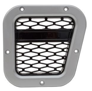 XS Air Intake Grille - Silver with Black Mesh - DA1971
