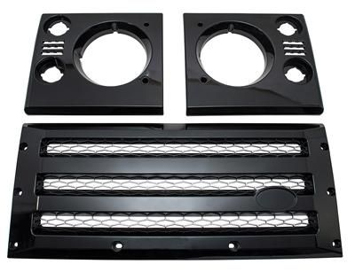 XS Front Grille & Headlamp Surround - Black with Silver Mesh - DA1968